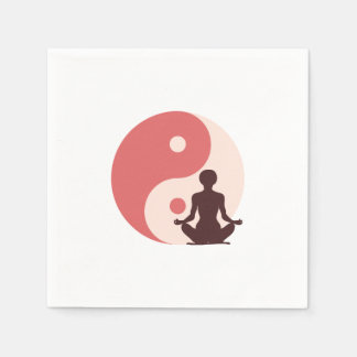 Chica de la yoga servilleta desechable