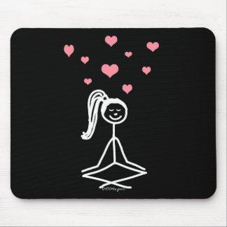 Chica de la yoga tapete de ratón