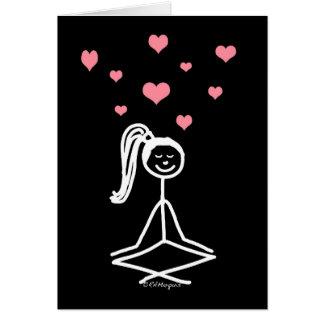 Chica de la yoga felicitaciones