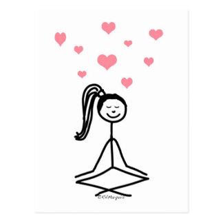 Chica de la yoga tarjetas postales