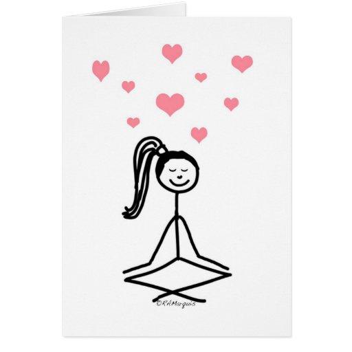 Chica de la yoga tarjetón