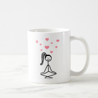Chica de la yoga tazas de café