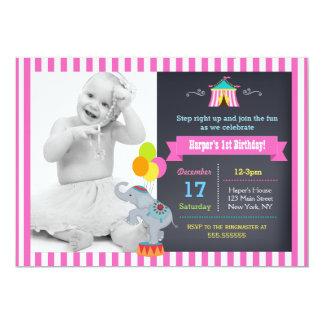 """Chica de las invitaciones del cumpleaños de Bigtop Invitación 5"""" X 7"""""""