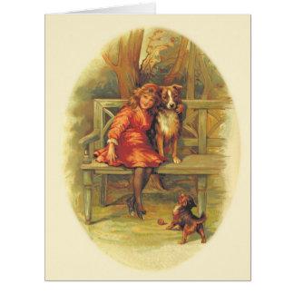 Chica de las tarjetas del día de San Valentín del