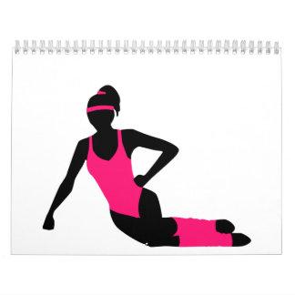 Chica de los aeróbicos calendario