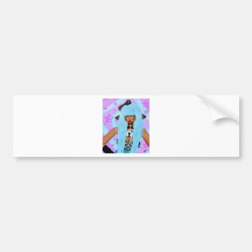 Chica de los alces etiqueta de parachoque