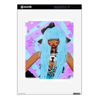 Chica de los alces iPad 2 calcomanías