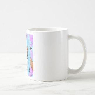 Chica de los alces taza de café
