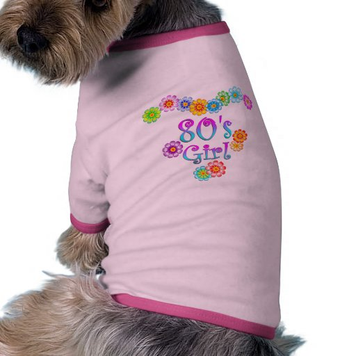 chica de los años 80 camiseta con mangas para perro