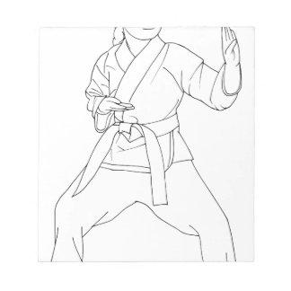 Chica de los artes marciales blocs