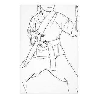 Chica de los artes marciales papeleria de diseño