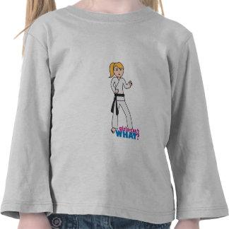 Chica de los artes marciales camisetas