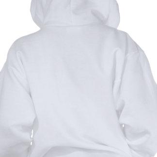 Chica de los artes marciales sudadera con capucha