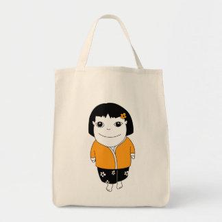 Chica de los sarong - amarillo - bolso bolsas de mano