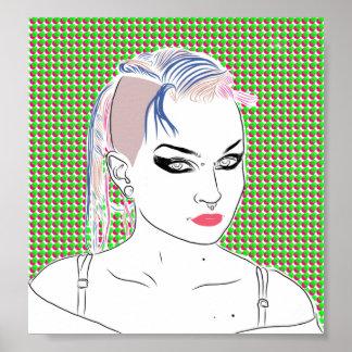 Chica de los tebeos del arte pop poster