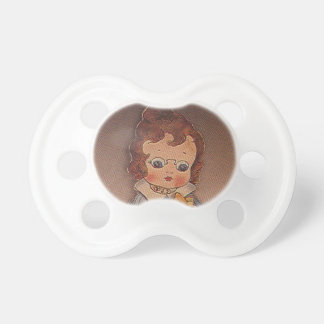 Chica de los vidrios del vintage chupetes de bebe
