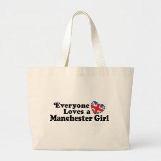 Chica de Manchester Bolsas Lienzo