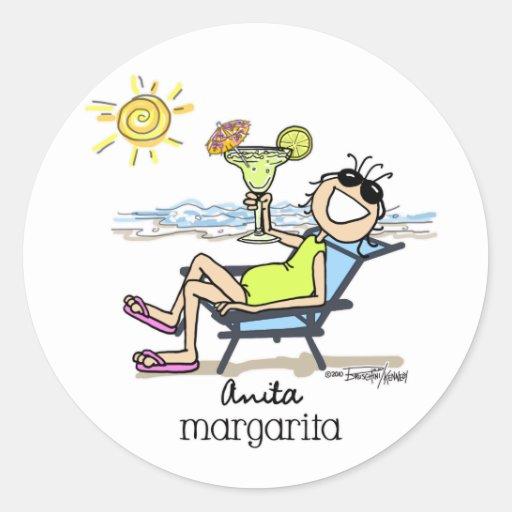 Chica de Margarita Pegatinas Redondas