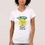 chica de martini camiseta
