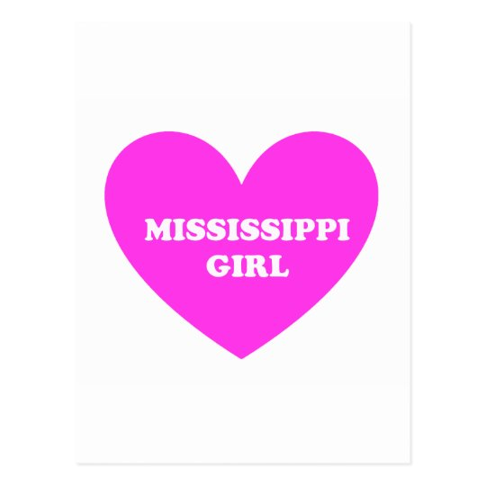 chica de Mississippi Tarjeta Postal