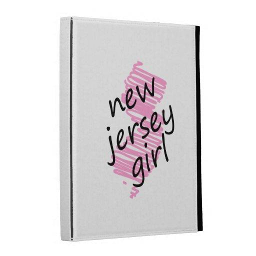 Chica de New Jersey con el mapa garabateado de New