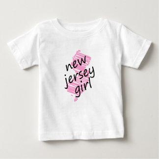 Chica de New Jersey con el mapa garabateado de New Playera