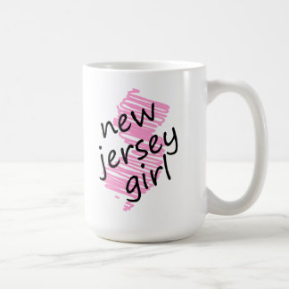 Chica de New Jersey con el mapa garabateado de New Taza
