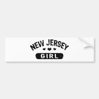 Chica de New Jersey Pegatina De Parachoque