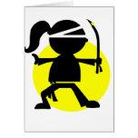 Chica de Ninja Felicitación