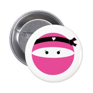 Chica de Ninja Pin Redondo De 2 Pulgadas