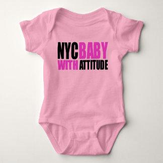 Chica de NycBabywAttitude_blk&pink T-shirts