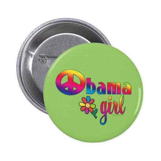 Chica de Obama Pin