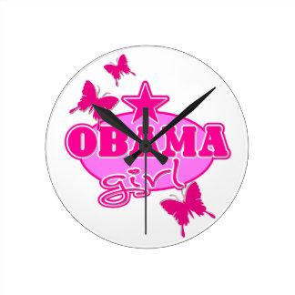 Chica de Obama Reloj De Pared
