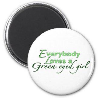 Chica de ojos verdes iman de nevera