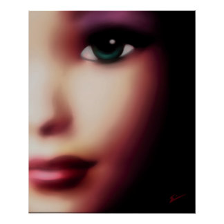 Chica de ojos verdes posters