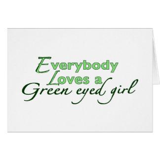 Chica de ojos verdes tarjeta de felicitación
