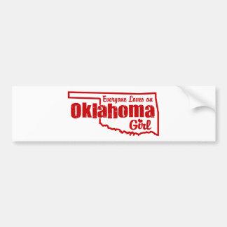 Chica de Oklahoma Etiqueta De Parachoque