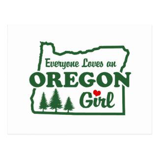 Chica de Oregon Postales
