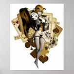 Chica de oro 2 del póker impresiones