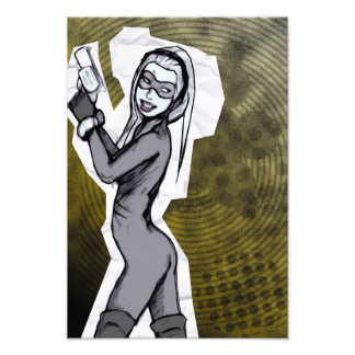 Chica de papel del espía fotografía