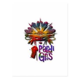 Chica de Pardi Gras también Tarjeta Postal