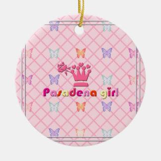 ¡Chica de Pasadena! Ornamento De Navidad