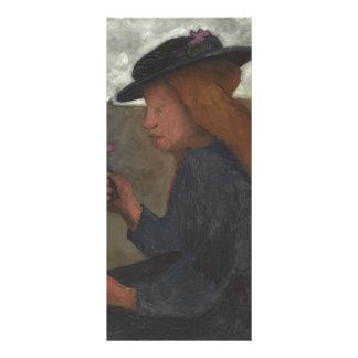 Chica de Paula Modersohn-Becker con el gorra negro Lonas Publicitarias