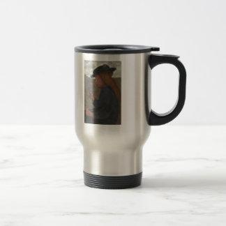Chica de Paula Modersohn-Becker con el gorra negro Tazas De Café