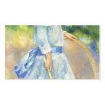 Chica de Pedro-Auguste Renoir- con un aro Plantilla De Tarjeta De Negocio