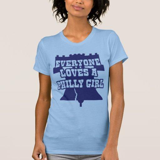 Chica de Philly Camisetas