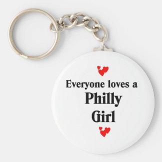 Chica de Philly Llavero Redondo Tipo Pin