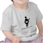 Chica de Pickin del banjo Camisetas