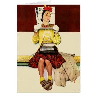 Chica de portada tarjeta pequeña