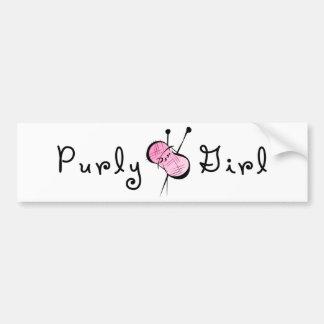 Chica de Purly Pegatina De Parachoque